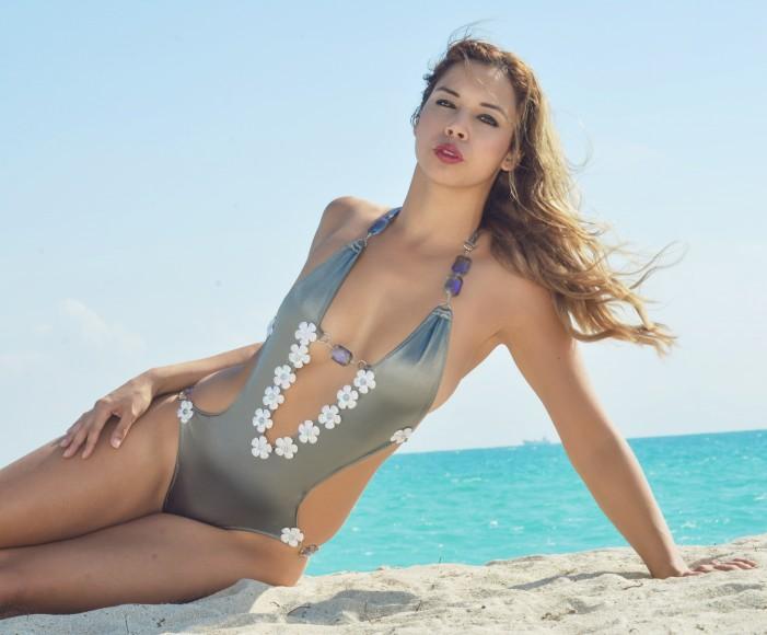 karo swimwear, nora gouma, model on a mission