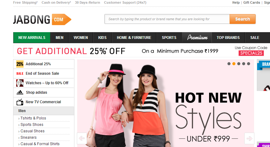 Best online fashion shopping website in india for Best online store websites