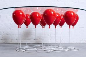 Interior design: The Balloon table made by Christopher Duffy